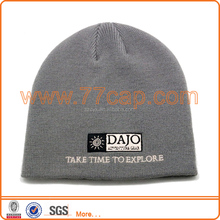wholesale acrylic gray striped beanie hat