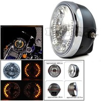 BJ-HL-007 Hot sale ATV racing manufacture 28 LED 35W amber motorcycle projector headlight