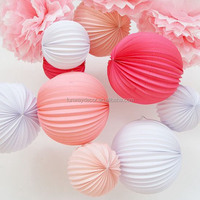 Accordion Paper Lanterns With Different Colors and Sizes for Party & Event Decoration Wedding Hanging Paper Watermelon Lanterns