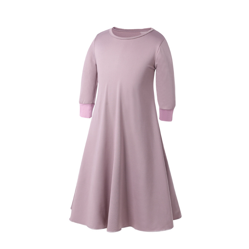 New Arrivals 2019 Wholesale Islamic Children Clothing Muslim Dress With Abaya
