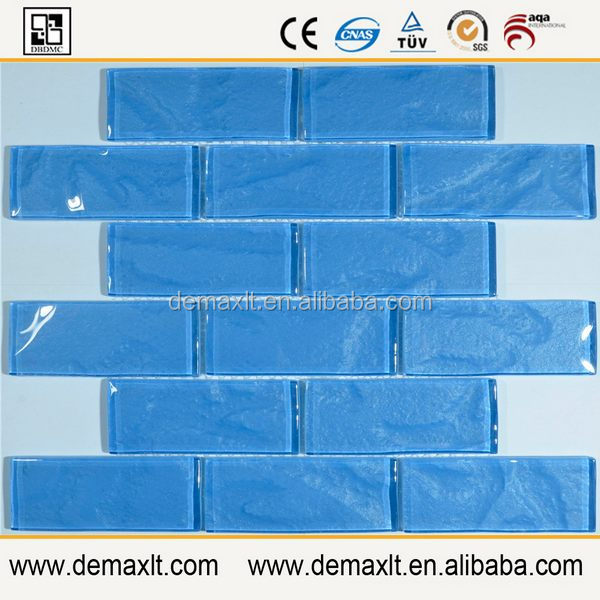 3*6 glass tile subway factory supply directly building materail glass mosaic tile