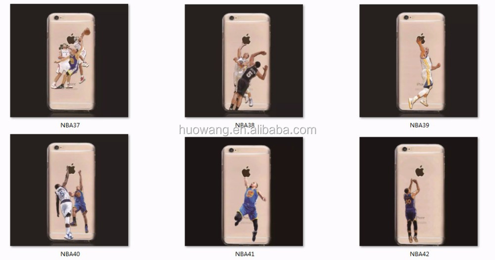 Fashion Style Creative Design OEM NBA Sport Star Customize Tpu Case for iphone 6 /5 /4