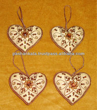 Bead Embroidery Heart Shape Christmas Decoration Articles