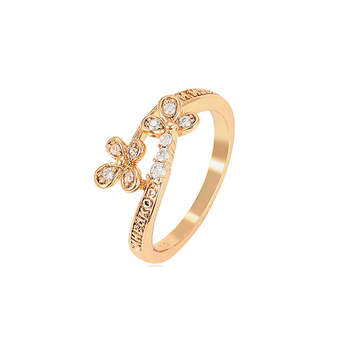 15512 xuping best selling elegant jewelry 18K gold plated big diamond design ring for women