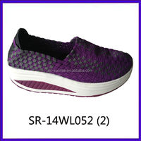 2014 new styles SR-14WL058 mix colors hand woven strap shoes