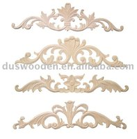 Hand carved solidwooden decorative onlays