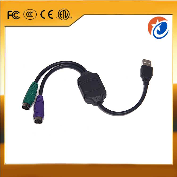 USB 2.0 to dual PS2 Hdmi To Vga Converter Cable For Keyboard/Mouse