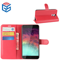 Premium PU Leather Flip Wallet Cover Case For Homtom HT30