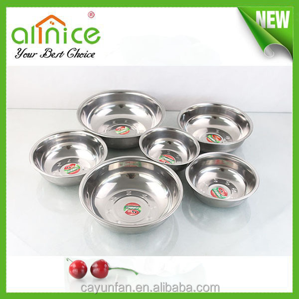 17cm-27cm Stainless Steel Soup Plate/ Round Plate/ Dinner Plate