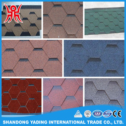 Cheap price asphalt fiberglass roofing shingles / 3 tab bitumen shingle
