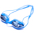 Swimming pool accessories high definition professional silicone logo swimming goggles with different color