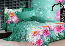 100% cotton reactive printed bed set