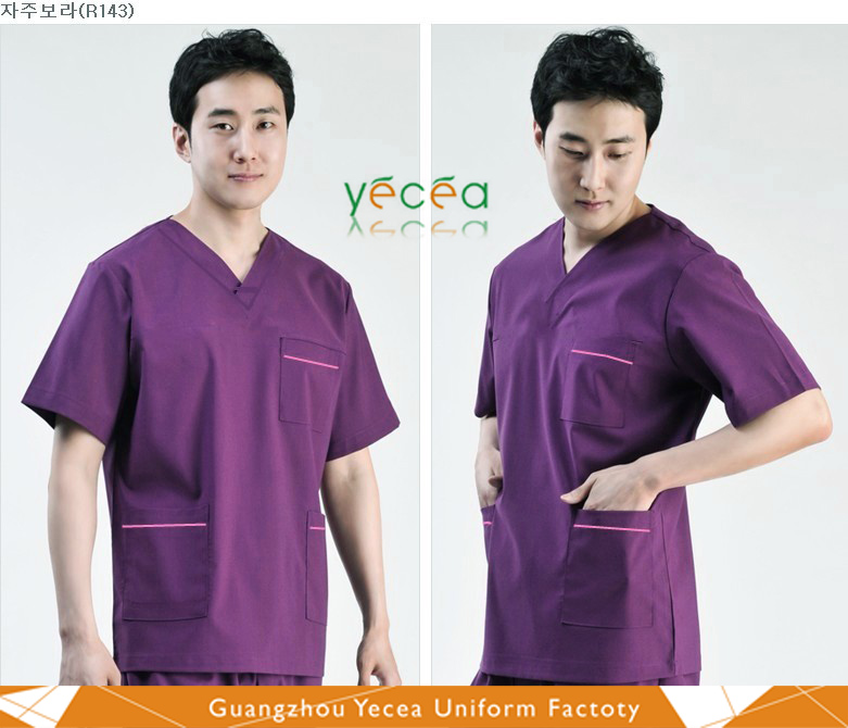HOT high quality Royal Popular Pocket 100%cotton hospital Medical Scrubs for women/men wear uniform