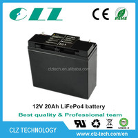 12v /12.8V 20AH lifepo4/li-ion/lipo/lithium ion/lithium iron phosphate/lfp motorcycle rechargeble battery