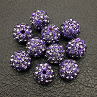 10mm Polymer Clay Rhinestone Loose Pave Crystal Disco Ball Beads Wholesale