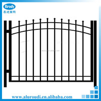 Factory sell aluminum garden gate decorative black cheap metal fencing