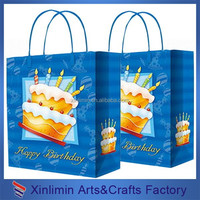 2015 new customized glossy chrismas gift paper bag
