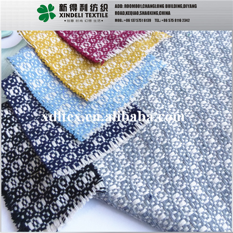 XL25070 Hot selling sofy hand touch 100% ACRYLIC yarn dyed knitted wool fabric for lady'swear
