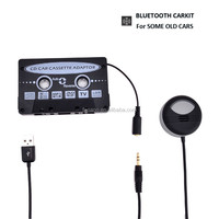 Car Kit Bluetooth Portable Wireless Hands-free Bluetooth on Air Vent In-car Speakerphone Cassette Adapter Set