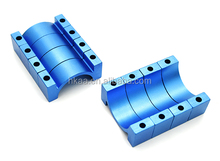 High quality blue anodized cnc aluminum adjustable tube clamp