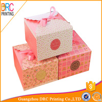 Fashion Custom food grade paper box for cupcake