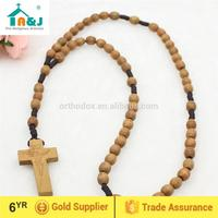 Passed CPSIA lead content wood rosary with carved beads Factory discount