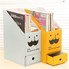 Hot Sale Desktop Document Storage Box with Drawer/Creative Household & Office Drawer Container