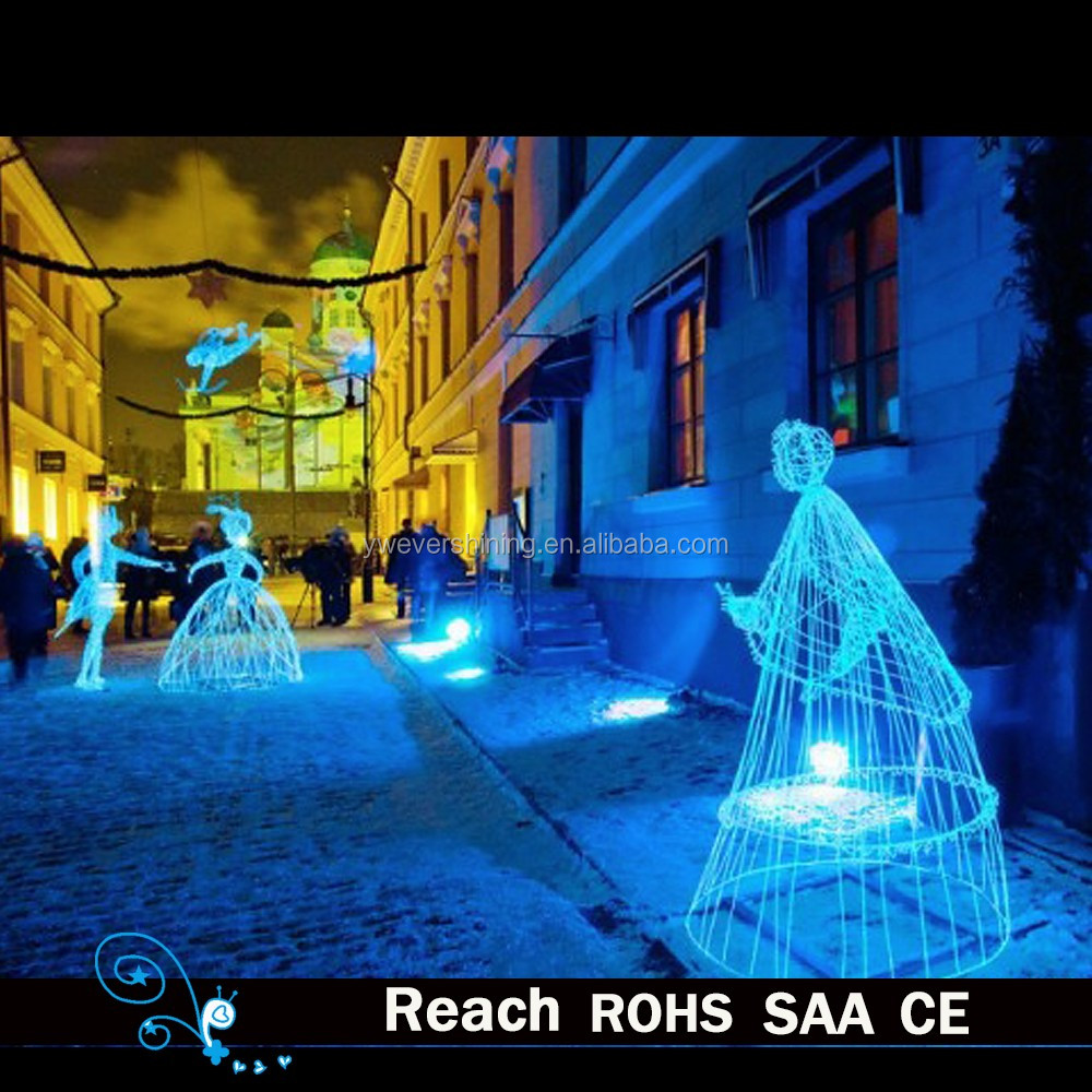 outdoor street led lights character shape design led lights christmas decoration street lighting
