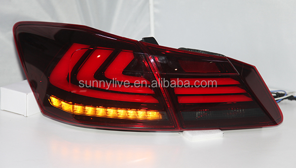 For HONDA For Accord 2013-2014 year LED Strip Tail Light Red Black Color YZ
