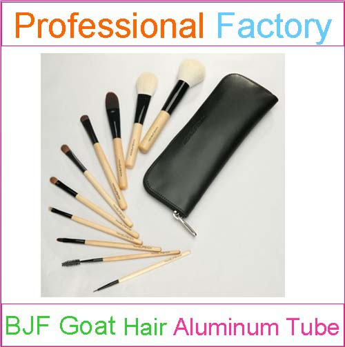 Specialized Goat Hair Cosmetic Brush Set Bamboo Makeup Brush