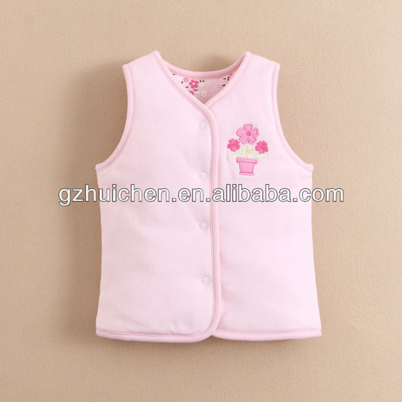 mom and bab 2013 Winter baby clothes 100% cotton 2 sides quilted vest knitting