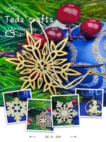 2015Teda blank carved wood art christmas ornaments