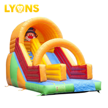 0.55 mm PVC Tarpaulin Low Price Clown Children Playground Slide For Kids Indoor