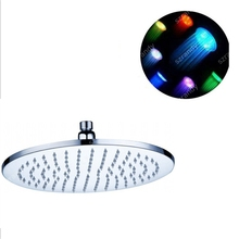 LD8030-B6 Hot and multicolor No Battery Ceiling LED Rain Top Shower