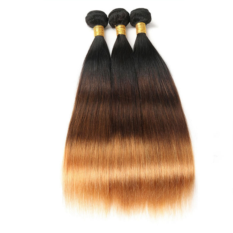 Straight ombre color original Brazilian Human Hair