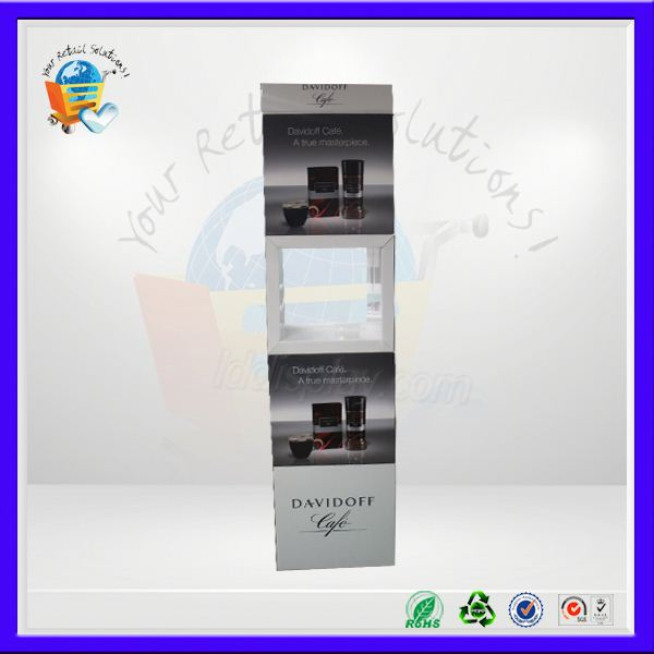hot advertising shawl customized display stand ,hosue shaped paper display ,hot display