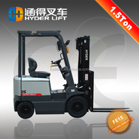 High quality AC/DC motor 3 wheels /4 wheels 1.5 ton hangzhou forklift with CE/ISO