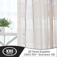 Elegant style linen curtain and upholstery fabric