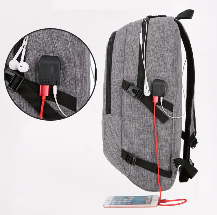 2019 New Waterproof Anti Theft Anti-theft Laptop Backpack With Usb Charging Port