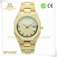 mens wrist watches mix color metal wooden fashion watch