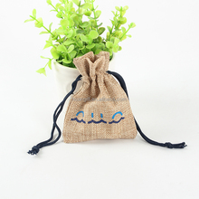 Custom Jute Drawstring or Cotton Small Jewelry Pouch Bags