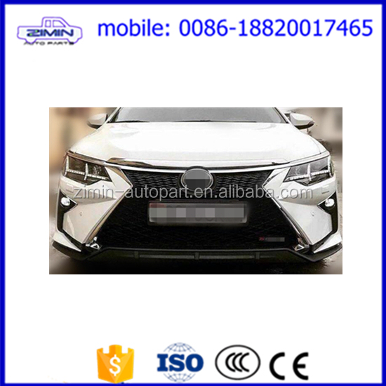 front body kit for camry 2015 upgrade to lexus style bumper