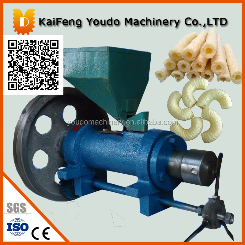 120kg per hour economical corn extruder/rice puff machine