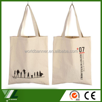 wholesale cheap custom cotton canvas tote bag plain