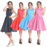 Wholesal walsonrockabilly 2014 hot sale est 50's vintage swing dress rockabilly dress retro dress with hair band outlet