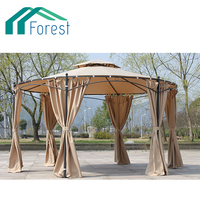 High Quality Chinese Round Hexagonal Wrought Iron Garden Outdoor Gazebo
