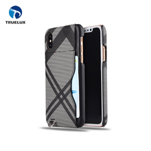 5.8 inch Cell Phone Protective Rear Leather Case Cover For iPhone X Black