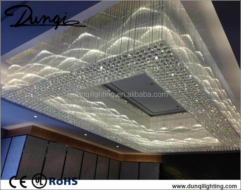 wedding decorations glass ceiling light for event holl