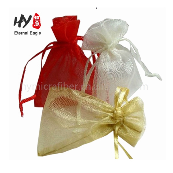 Simple style candy gift perfume wedding organza bags with logo printing