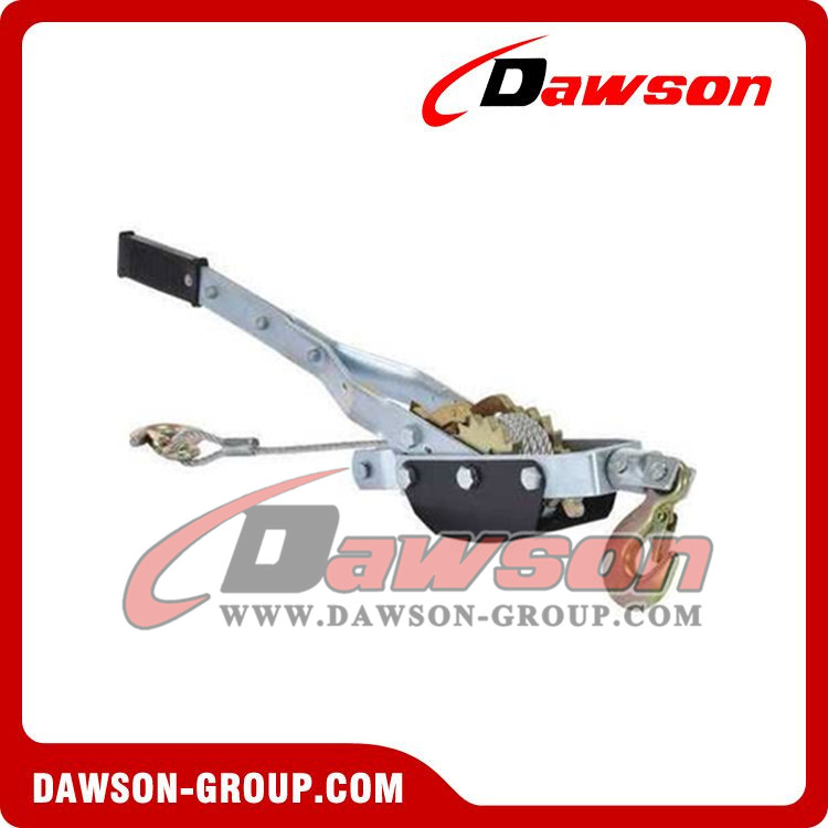 DAWSON hot selling 4 ton capaciy cable puller with double gear